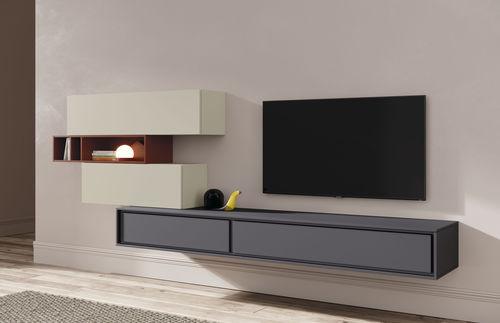 contemporary TV wall unit - VIVE - MUEBLES VERGE S.L.