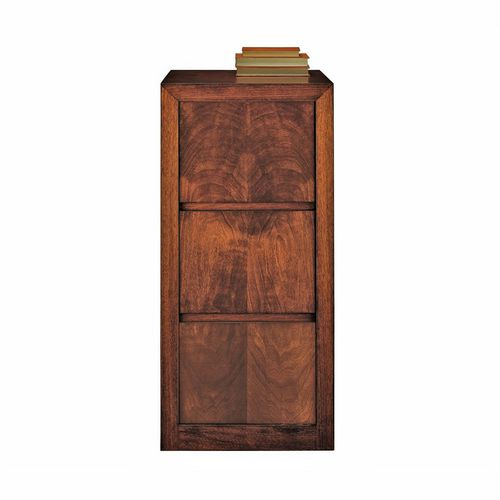 tall filing cabinet / walnut / beech / with drawers
