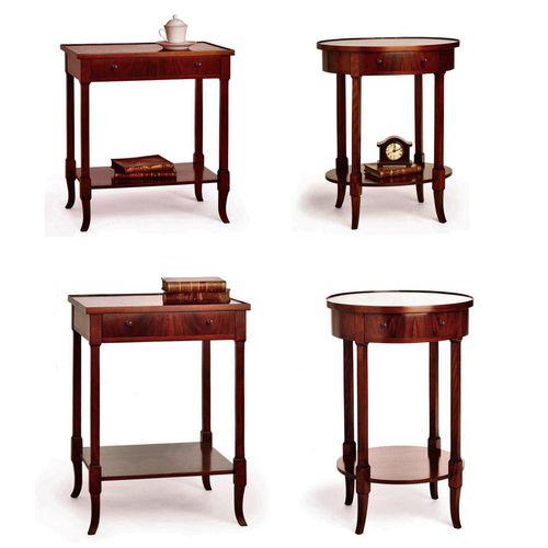 traditional bedside table / walnut / beech / walnut base