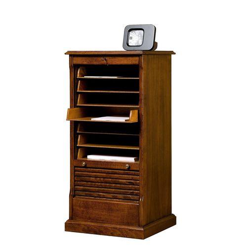 low filing cabinet / walnut / beech / Victorian