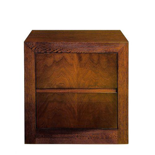 contemporary bedside table / walnut / beech / rectangular