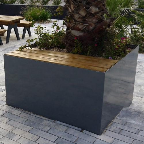 galvanized steel planter