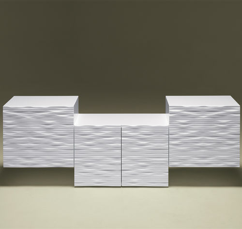 original design sideboard / lacquered wood / white