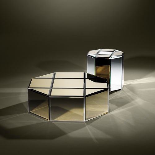 contemporary coffee table / marble / octagonal