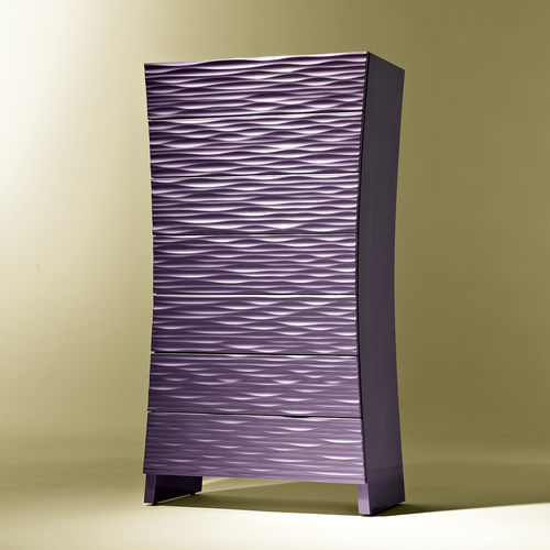 contemporary chiffonier / lacquered wood / brown / violet