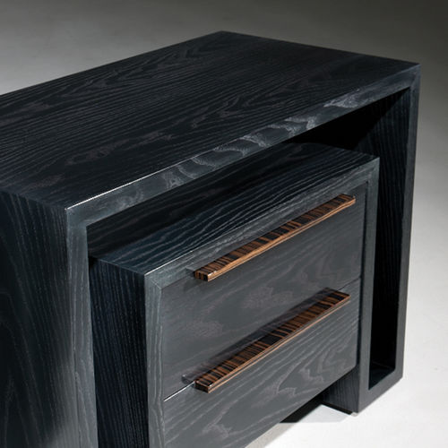 contemporary bedside table / wooden / rectangular / with drawer
