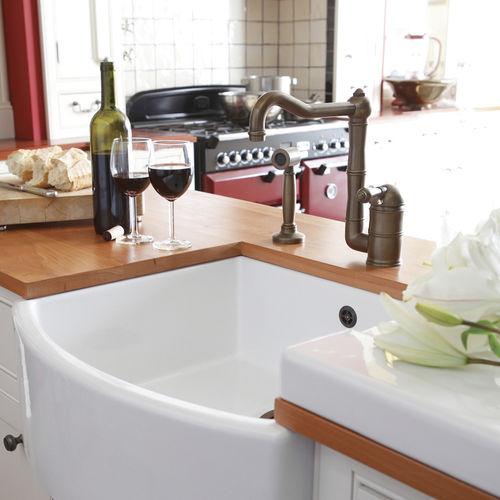 brass mixer tap / mechanical / kitchen / 1-hole