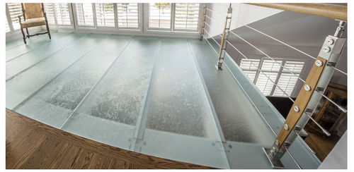 glass raised access floor / high-resistance / acoustic / non-slip