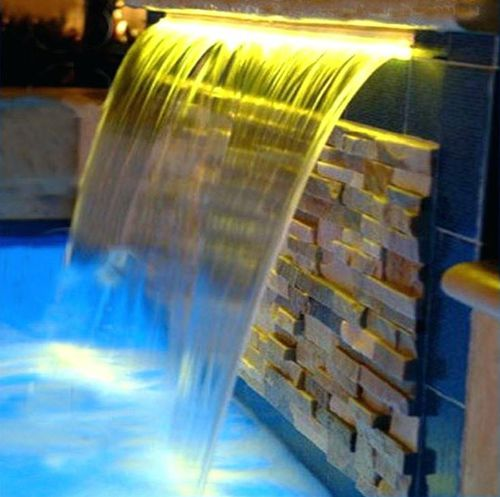 Swimming Pool Waterfall Li 6 Series Lumiartecnia Internacional For Water Parks