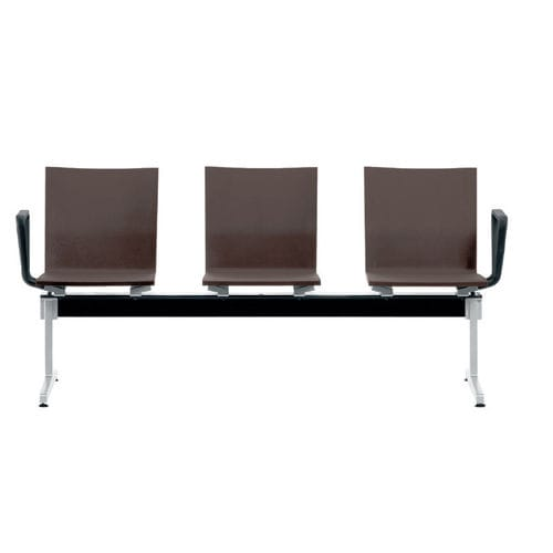 steel beam chair / cast aluminum / polyurethane / 3-seater
