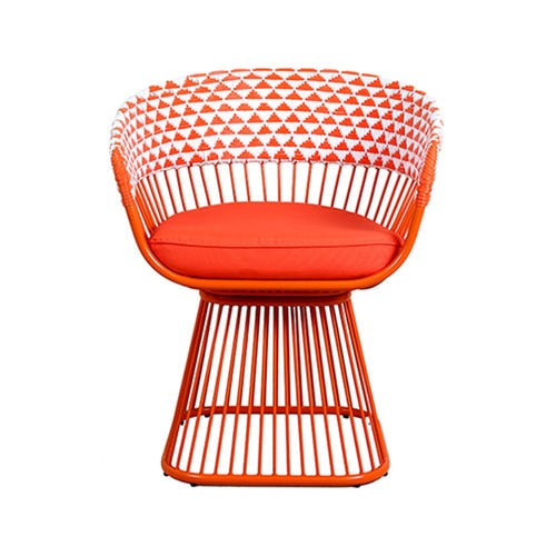 Pop Art design restaurant chair / with removable cushion / with armrests / bistro