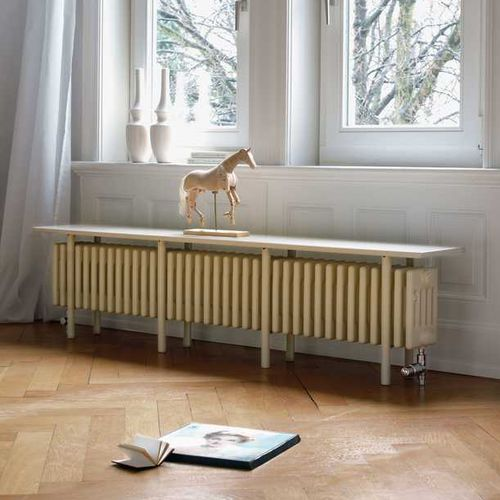 hot water radiator / metal / contemporary / bench