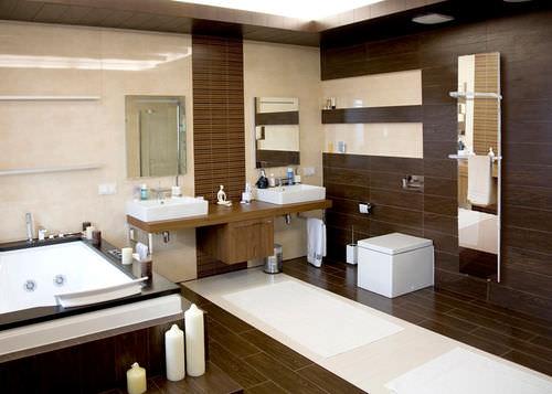 hot water towel radiator / electric / glass / mirror