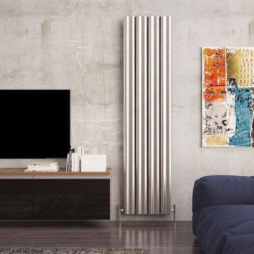 hot water radiator / electric / aluminum / original design