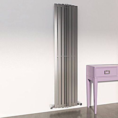 hot water radiator / stainless steel / contemporary / vertical
