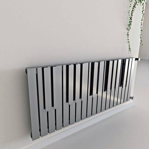 hot water radiator / stainless steel / contemporary / horizontal