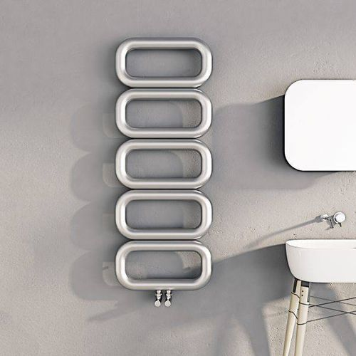 hot water towel radiator / stainless steel / contemporary / bathroom
