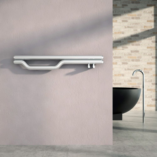 hot water towel radiator / stainless steel / original design / bathroom