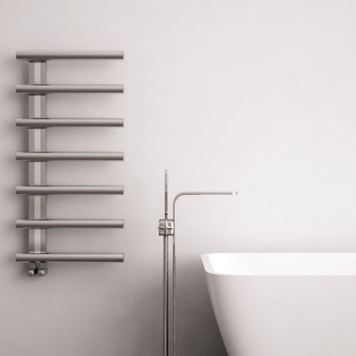 hot water towel radiator / electric / stainless steel / contemporary