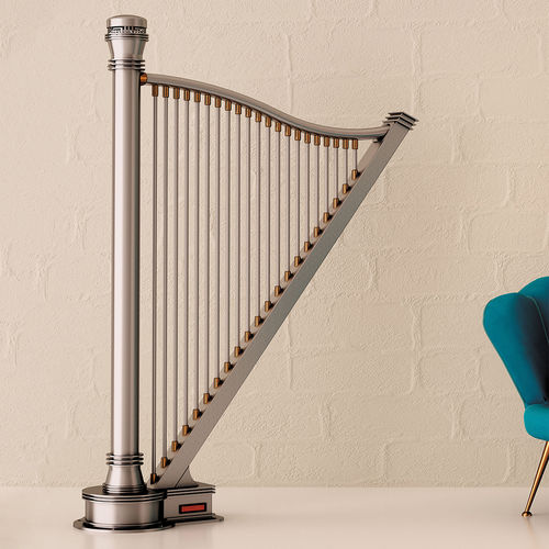 electric radiator / stainless steel / original design / vertical