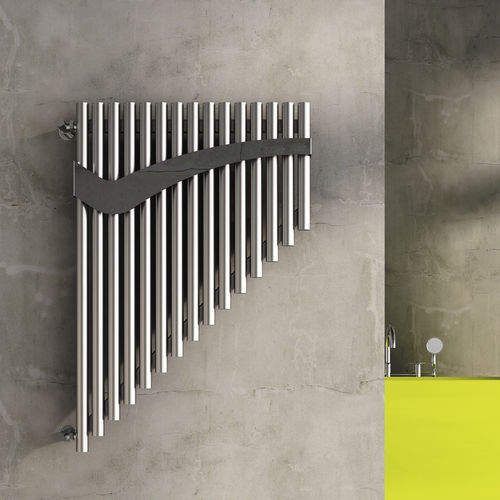 hot water radiator / stainless steel / original design / bathroom
