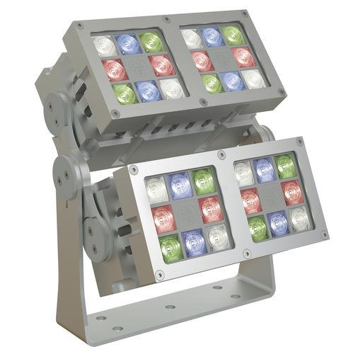 surface-mounted light fixture / RGBW LED / rectangular / outdoor