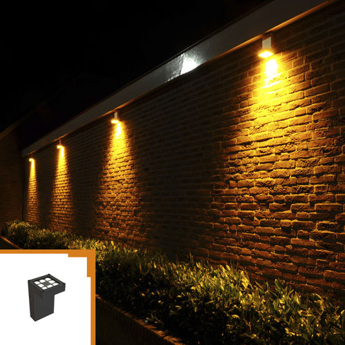 contemporary wall light / outdoor / solid aluminum / LED