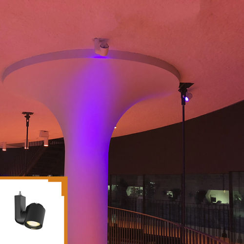 RGB LED track light / round / ABS / for shops