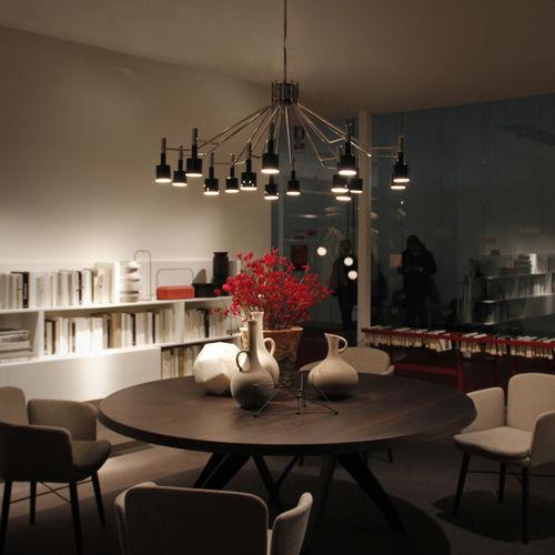 contemporary chandelier / brass / aluminum / handmade
