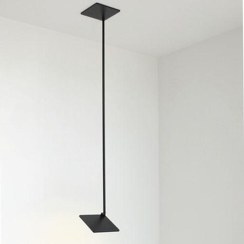 hanging light fixture / OLED / square / aluminum