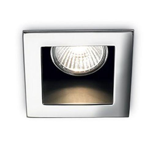 recessed downlight / halogen / square / metal