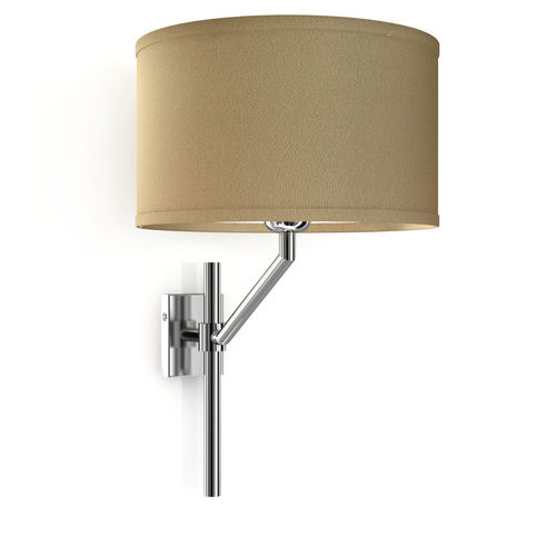 contemporary wall light / brass / chromed metal / nickel