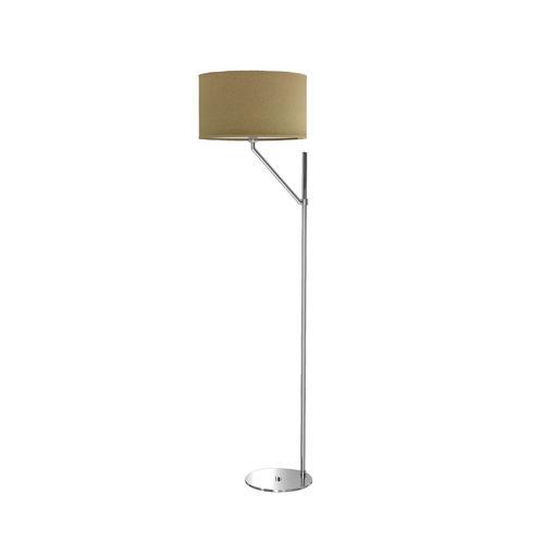 floor-standing lamp / contemporary / brass / nickel