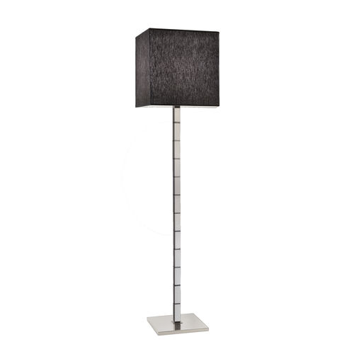 floor-standing lamp / contemporary / nickel / polished brass