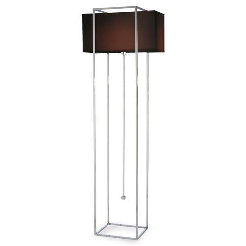 floor-standing lamp / contemporary / brass / chromed metal