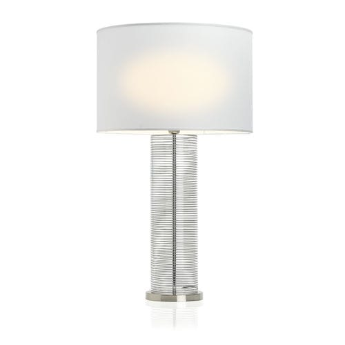 table lamp / contemporary / brass / glass