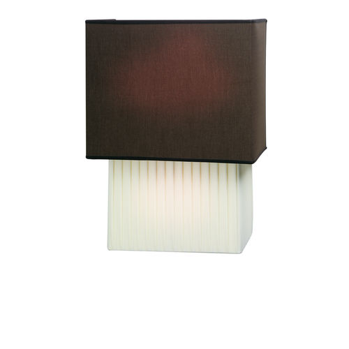 contemporary wall light / chromed metal / fabric / LED