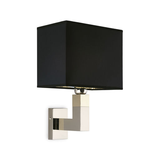 contemporary wall light / brass / fabric / LED