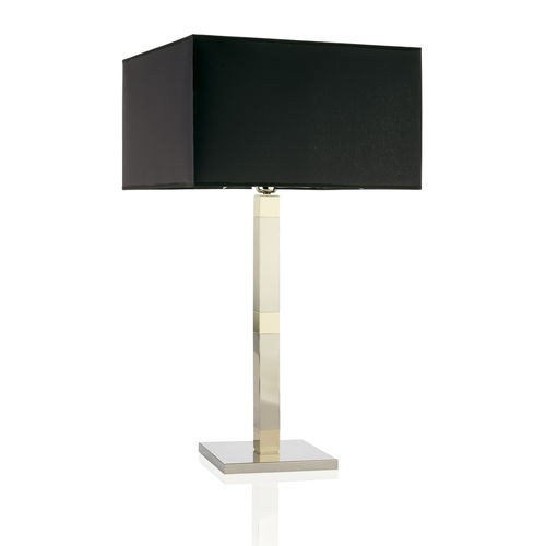 table lamp / contemporary / brass / fabric