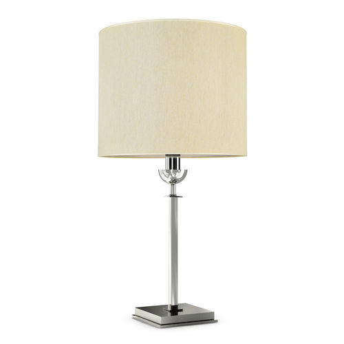 table lamp / contemporary / metal / fabric