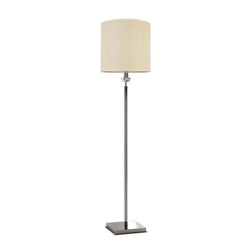 floor-standing lamp / contemporary / metal / fabric