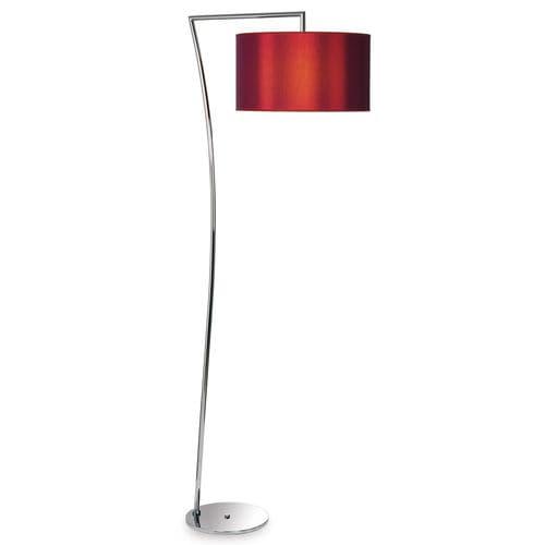 floor-standing lamp / contemporary / brass / fabric