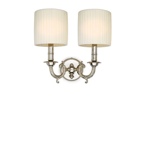 traditional wall light / brass / fabric / LED
