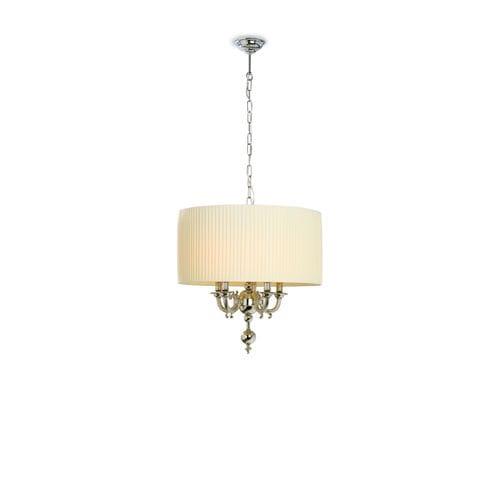 pendant lamp / traditional / brass / fabric