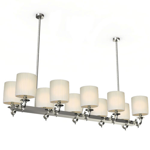 traditional chandelier / brass / fabric
