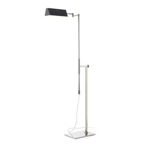 floor-standing lamp / contemporary / nickel / painted metal