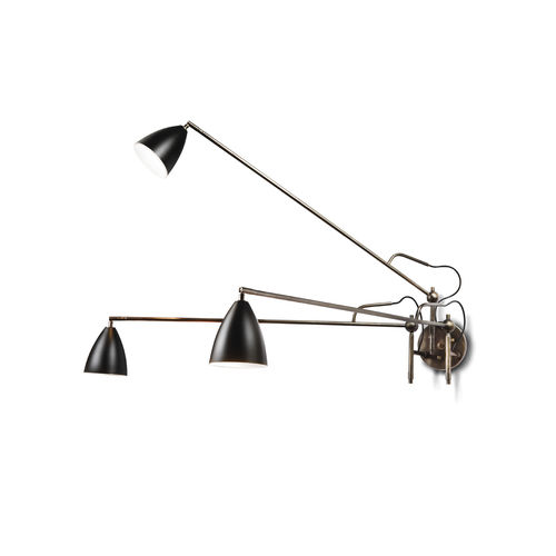 contemporary wall light / chromed metal / painted metal / LED