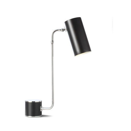 table lamp / contemporary / painted metal / black