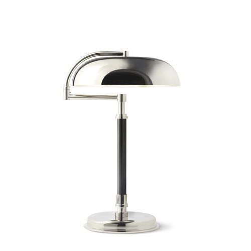 table lamp / contemporary / painted metal / silver