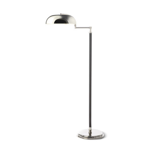 floor-standing lamp / contemporary / painted metal / chrome